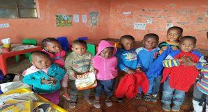Preschoolers at the Emsengeni Preschool