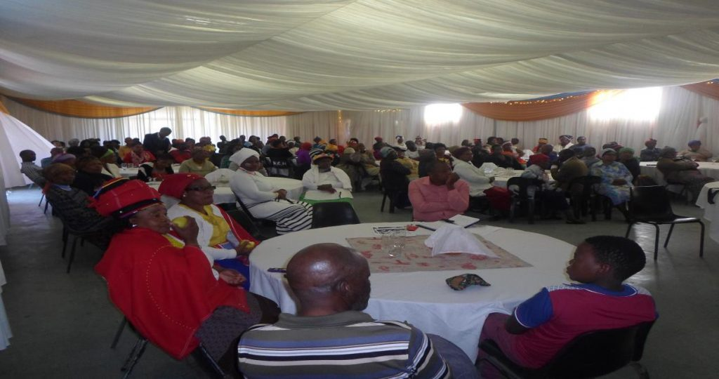 The draping was sponsored by the Raymond Mhlaba Mayoral Office