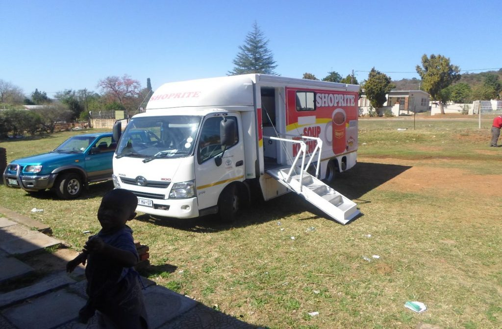 Shoprite Checkers ensured that guests received a breakfast from their Soup Kitchen Truck