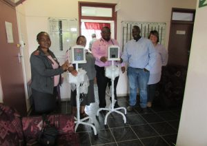 Thembekile Kanise (TK) of Catholic Development Centre, Mthatha, with Dr Mashiyi, Sr May and Sr Notabo of Maclear General Hospital