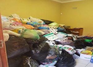 Donated clothes at Ikhala Trust